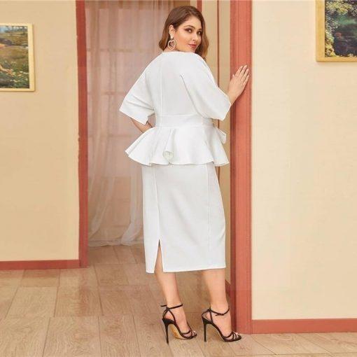 Hippie weißes Kleid große Größe