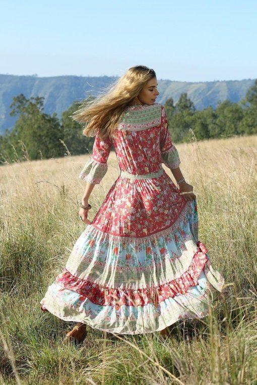 Romantisches Hippie Maxikleid